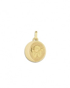 médaille ange or
